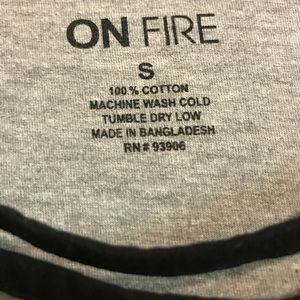 On Fire Tops - On fire low neck tee